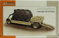 """V2 A-Stoffanhänger """"Flüssigsauerstoffbehälter"""",1:72, Plastik, Special Armour,NEU"""