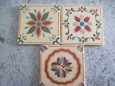 Set of 3 GAIL PITTMAN SOUTHERN LIVING AT HOME SIENA TRIVETS - Red, Yellow, Green