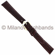 13mm Hirsch Burgundy Genuine Lizard Stitched Look Ladies Watchband
