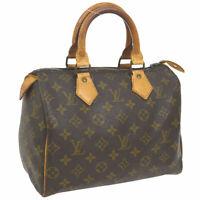 LOUIS VUITTON SPEEDY 25 HAND BAG MONOGRAM PURSE M41528 A46552c