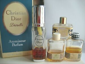 🎁lot Vintage **PARFUM** perfume 0.4 oz Christian Miss Dior Diorella EDT