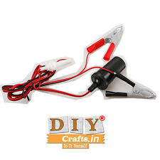DIY Crafts®Car Auto Van Battery Clip 12V cigarette Lighter Power Socket Adaptord