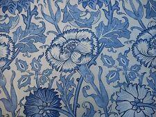 William Morris Curtain Fabric 'Pink & Rose' 2.5 METRES (250cm) Vellum/Indigo