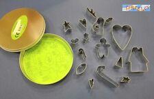 FIMO CERNIT CAKE DESIGN - Kit 17 stampini in metallo + scatola - Natale