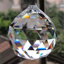 5 X Hanging Crystal Feng Shui Prism Ball Pendant for Chandelier Suncatcher 40mm