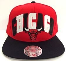 Chicago Bulls Mitchell & Ness NBA Big Poppin Snapback Red Adjustable Fit Cap Hat