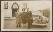 Vintage Car Photo Men & Pretty Girl 1941 Plymouth Automobile 773047