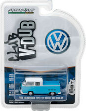 Greenlight 1968 VW Volkswagen T2 Type 2 Double Cab Pick Up 1:64 L Blue 29860-C
