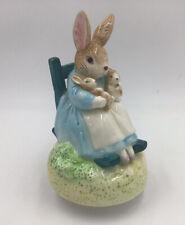 Schmid Beatrix Potter Benjamin Bunny Mrs Rabbit Music Box Brahms Lullaby