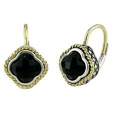 Andrea Candela 18k & Sterling Diamond Dublet Black Onyx Clover Earring ACE128-ON