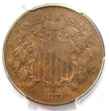 1872 Two Cent Coin 2C - Certified PCGS F15 - Rare Key Date Coin - $725 Value!