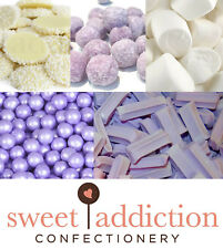 DIY Candy Buffet Purple and White Theme 3.2kg - Bulk Lolly Party Lollies Wedding