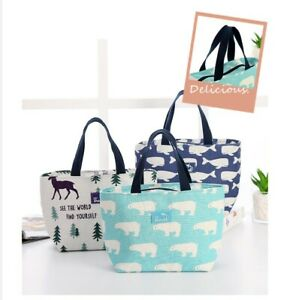 Large Portable Lunch Bag Insulated Thermal Cooler Box Carry Tote Travel Bag