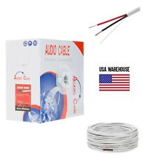 14AWG Speaker Cable 500ft CL2 In Wall 14/2 Gauge 2 Conductor Bulk Audio Wire New