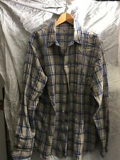 Margaret Howell check linen shirt beige/blue size X