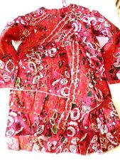 paglie Vestido, Rojo multicolor Talla 98-122