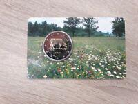 Coincard 2 Euro Gedenkmünze Lettland 2016 Milchwirtschaft in Lettland