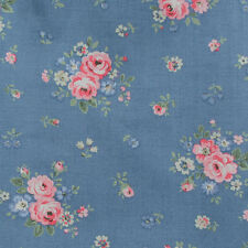 "Cath Kidston Half Yard Cotton Fabric 52""(133cm) Wide Bouquets on Blue PF018"