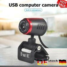 DE1080P Webcam HD Video Laptop Kamera mit Mikrofon 30 fps Clip-on Kamera für PC