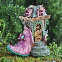 The Pink Slipper Fiddlehead Fairy Garden House Micro Miniature Hobbit Accessory