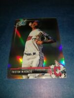 TRISTON MCKENZIE 2017 BOWMAN CHROME DRAFT CARD BDC-125 INDIANS(ROOKIE REFRACTOR)