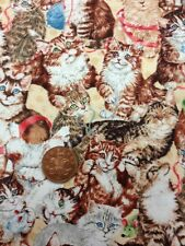 Cute Cats Kittens Playing Quilting Purr-fection Cotton 100% South Sea Imports