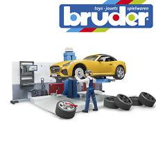 Bruder Bworld Car Service Station Childrens Kids Toy Model Vehicle Workshop