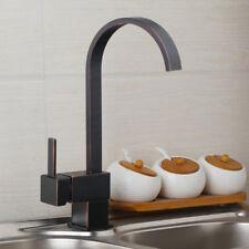 US Swivel Spout Oil Rubber Bronz Kitchen Faucet Basin Sink Spray Mixer Brass Tap
