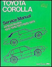 Toyota Corolla Manuale Manutenzione 1975 1976 1977 1978 1979 Bentley Repair