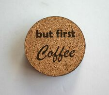 but first coffee Etched Cork Coasters Set of 4 Cafe