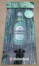 Heineken Beer Matrix Reloaded Computer Code Bottle Large Cardboard Sign Display