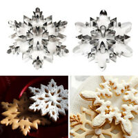 KQ_ Stainless Steel Snowflake Cookie Cutter Biscuit Pastry Cake Mold Baking Tool