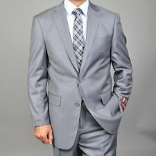 Giorgio Fiorelli Men's 2 Button Suit Size 52 Regular 46W NWT Gray Flat Front 52R
