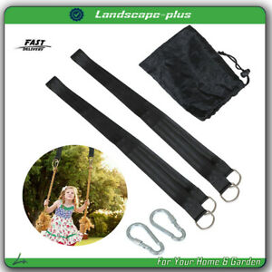 Tree Swing Hanging Straps Kit Heavy Duty Holds 1100LBS With Safer Lock Snap