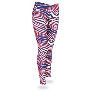 Zubaz NFL Women's New York Giants Zebra Print Legging Bottoms