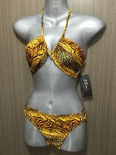 BNWT Womens 2Sea Brand Sz 10 Sexy Leopard Print V Wire Bikini Bathers Swim Set