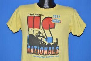 vintage 70s US NATIONALS NHRA 1977 INDIANAPOLIS RACEWAY PARK DRAG RACE t-shirt S