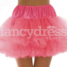 Neon Pink Underskirt Moulin Rouge Ruffle Tutu Bustle Burlesque Hen Night Party