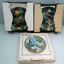 Knowles/Piickard Lot of 3 Collector Plates, Birds, All Nos