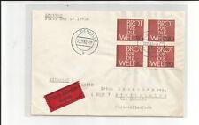 Bund / Mi.-Nr.  390 (4) als seltene MeF auf Eil-Brief v. Detmold (2)