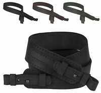 Leather Rifle Shotgun Sling Strap Neoprene Double Ply Soft Padded For Hunting