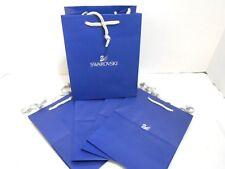Swarovski Royal Blue Gift Bags w/ Rope Handles 8 x 6 x 4 Lot of 5 Nos