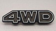 """1979 Subaru wagon 4 wheel drive  4WD grill emblem Used 6"""" X 1"""" 3/4"""