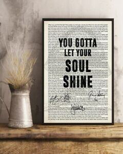 You Gotta Let Your Soul Shine The Allman Brothers Band Signed Poster (No Framed)
