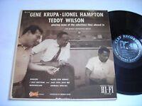Gene Krupa - Lionel Hampton - Teddy Wilson 1956 Mono LP