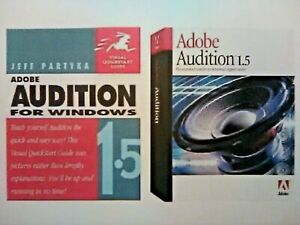 Adobe Audition 1.5 for Windows book & software combo (last copy!) *Relisted*