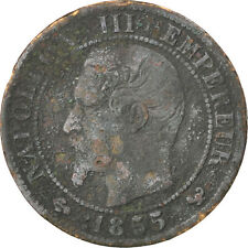 [#35641] Second Empire, 1 Centime Napoléon III tête nue, 1855 W, Lille, ancre