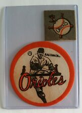 """*RARE* Vintage Iron-Ons Patches 2"""" & 4"""" BALTIMORE ORIOLES"""