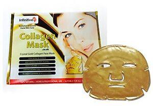5 x Face Masks 24K Gel Collagen New Infinitive Beauty Crystal Gold Sheet Patch