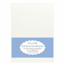 """Dovecraft White 5x7"""" Cards Blanks & Envelopes DCCE026"""